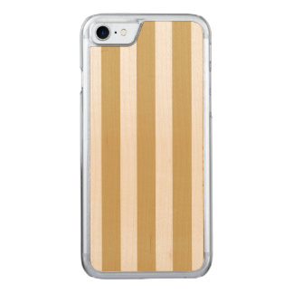 Khaki Beige and White Cabana Stripes Carved iPhone 8/7 Case