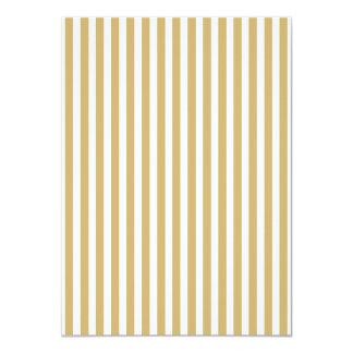 Khaki Beige and White Cabana Stripes 11 Cm X 16 Cm Invitation Card