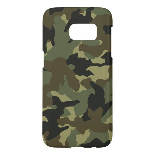 Khaki Camo Military Camouflage Samsung S7 Cases