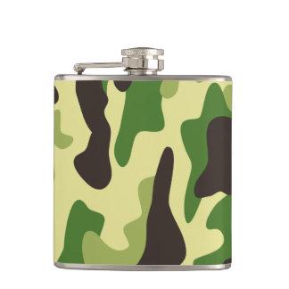 Khaki camouflage pattern hip flask