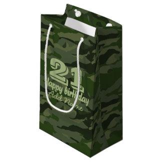 Khaki camouflage small gift bag