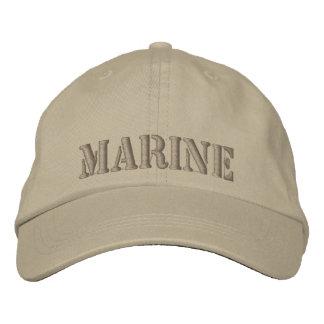 Khaki cap Embroidered with MARINE Baseball Cap