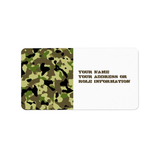 Khaki Commando Game Adhesive Labels