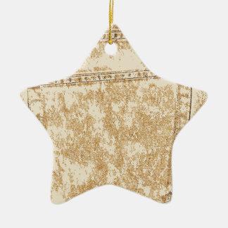 Khaki Denim Pocket Christmas Ornament