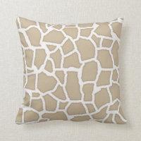 Khaki Giraffe Animal Print Cushion