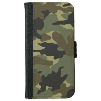 Khaki Green Camo Camouflage iPhone 6 6S Wallet