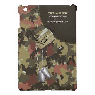 Khaki Green Camo Military - Customize Case For The iPad Mini