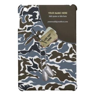 Khaki Grey Camo Military - Customize iPad Mini Case