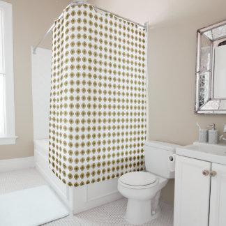 Khaki_Mod-Floral-Stylish--Designer-Bath-Decor Shower Curtain