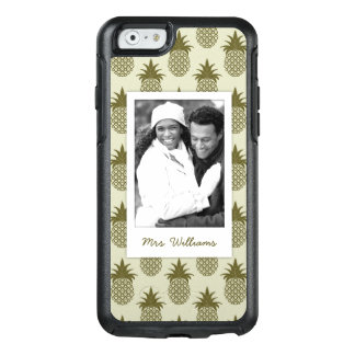 Khaki Pineapple Pattern| Add Your Photo & Name OtterBox iPhone 6/6s Case