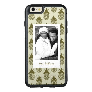 Khaki Pineapple Pattern| Add Your Photo & Name OtterBox iPhone 6/6s Plus Case