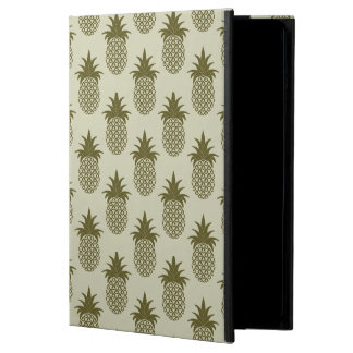 Khaki Pineapple Pattern Cover For iPad Air