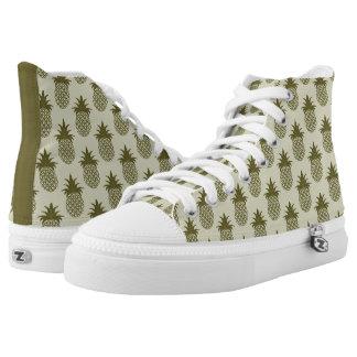 Khaki Pineapple Pattern High Tops