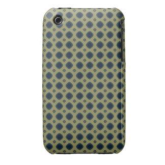 khaki teal retro pattern iPhone 3 case
