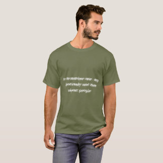 Khaki tee-shirt number one man T-Shirt