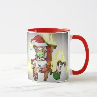 Khat Flaming X-mas Mug