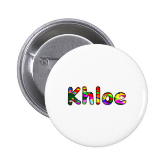 Khloe 6 Cm Round Badge