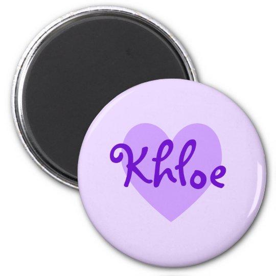 Khloe in Purple 6 Cm Round Magnet