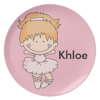 Khloe's Personalized Ballet Plate