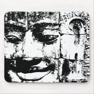 Khmer Stone Face ... Bayon Temple, Cambodia Mouse Mat