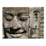 Khmer Stone Face ... Bayon Temple, Cambodia Postcard