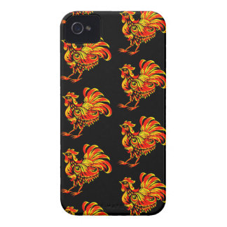Khokhloma rooster Case-Mate iPhone 4 case