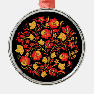 Khokhloma Russian Folk Art Christmas Ornament