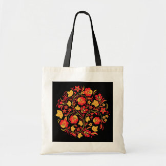 Khokhloma Russian Folk Art Tote Bag