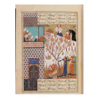 Khosro before Shirin's Palace Postcard
