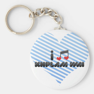 Khplam Wai fan Basic Round Button Key Ring