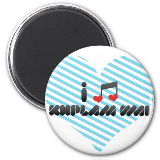 Khplam Wai fan Refrigerator Magnets