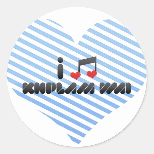Khplam Wai fan Round Sticker