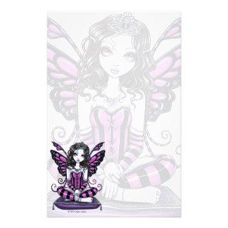Khristyn Gothic Pink Princess Fae Art Stationery