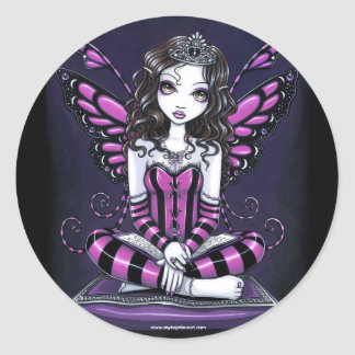 """Khristyn"" Pink Princess Fairy Art Stickers"