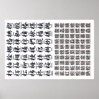 KI-HEN WOOD & MUSHI-HEN insect Poster