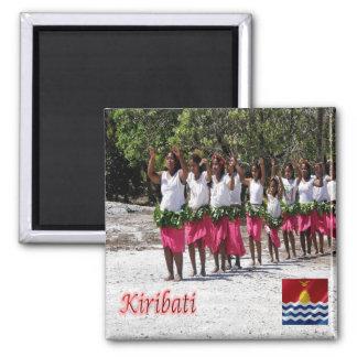 KI - Kiribati - Kuria Dancers Square Magnet