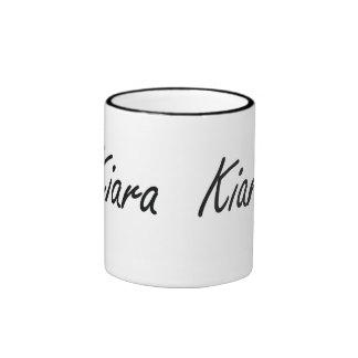 Kiara artistic Name Design Ringer Mug