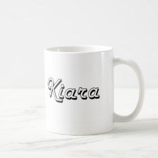 Kiara Classic Retro Name Design Basic White Mug