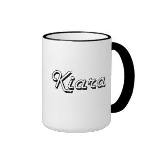 Kiara Classic Retro Name Design Ringer Mug
