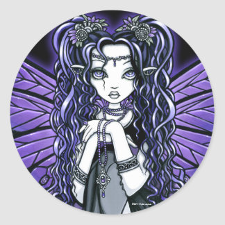 """Kiara"" Gothic Butterfly Fairy Princess Stickers"
