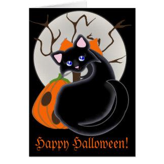 Kiara Toon Kitty Black Cat Moon & Tree Card