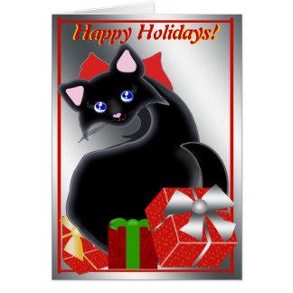 Kiara Toon Kitty Holiday Reds Note Card