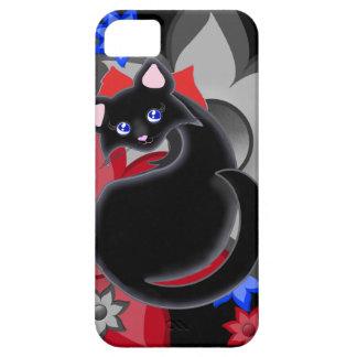 Kiara Toon Kitty Petal Flowers with Blue Case iPhone 5 Case