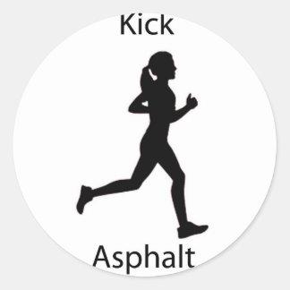 Kick asphalt classic round sticker