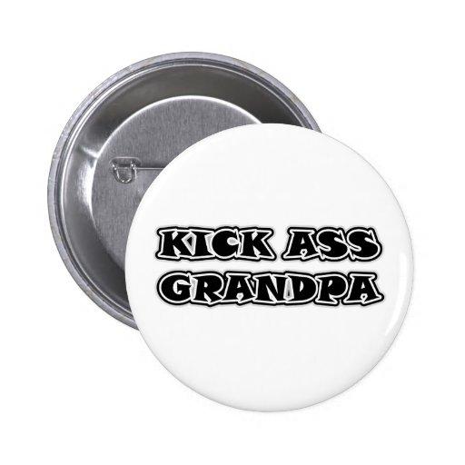 Kick Ass Grandpa Gift 6 Cm Round Badge
