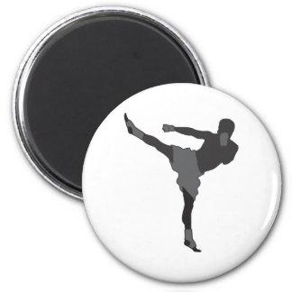 Kick Boxer 6 Cm Round Magnet