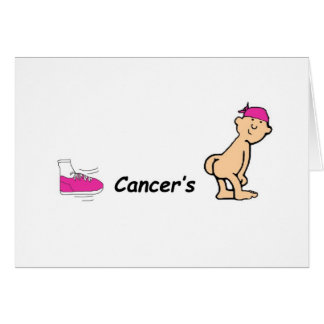 kick cancers butt card
