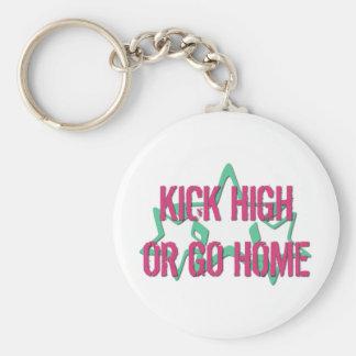 Kick High or Go Home Key Ring