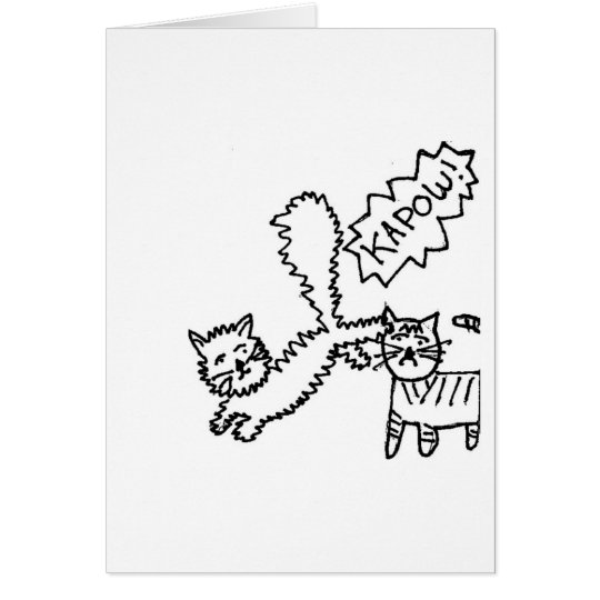 Kick in the teeth kitty cat birthday card