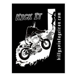 Kick It Postcard